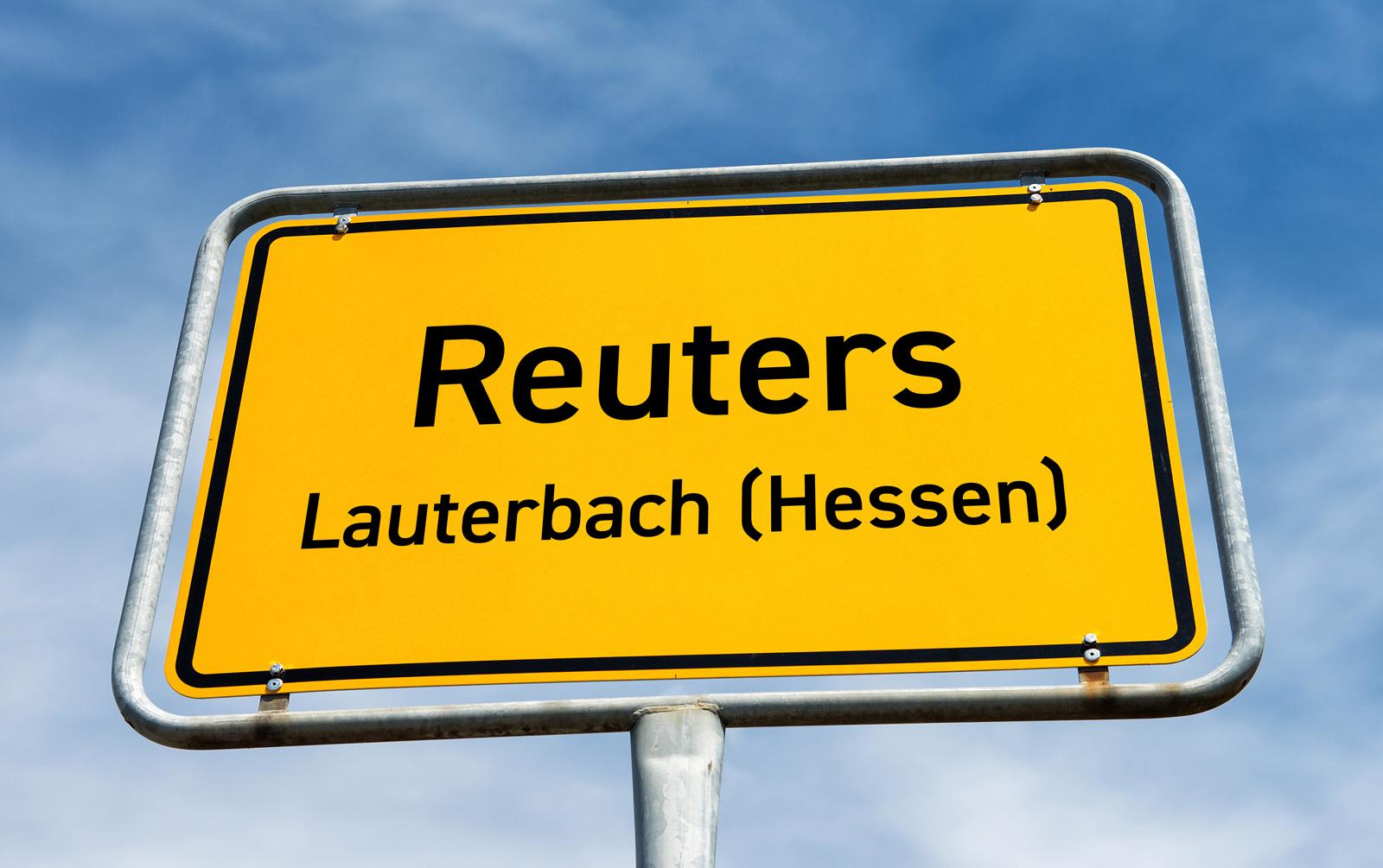 Ortsschild Reuters